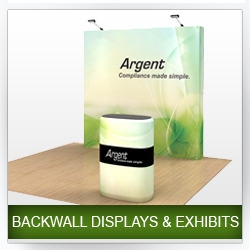 Backwall Trade Show Displays and Exhibits