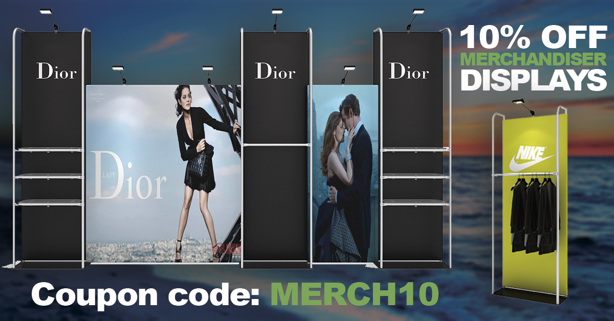 Save 10 percent on Merchandier displays