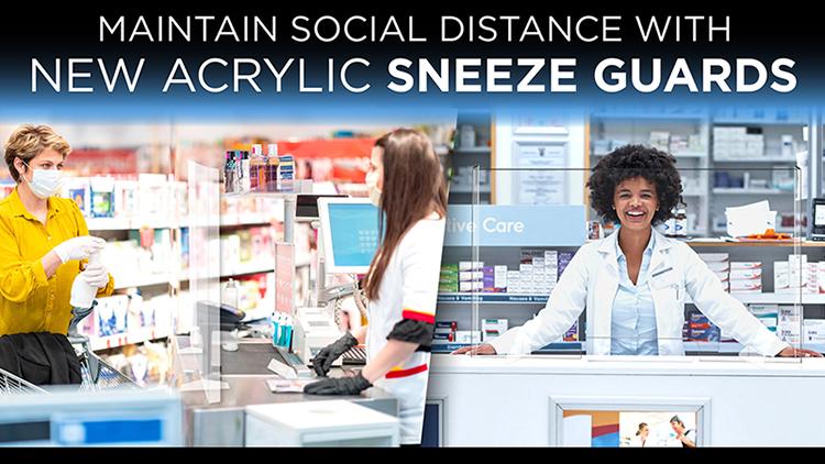 Plexiglass sneeze guards