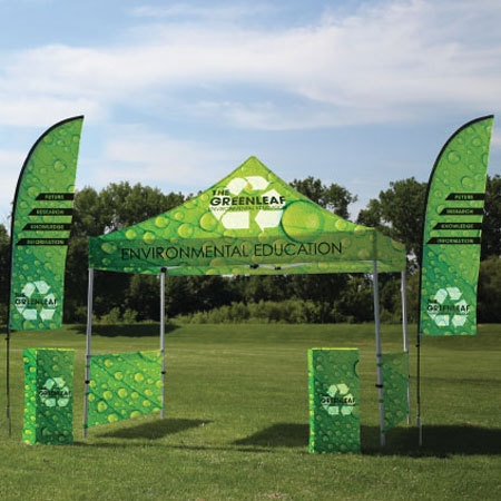 10 Ft Trade Show Canopy Tent Kit Custom Outdoor Trade